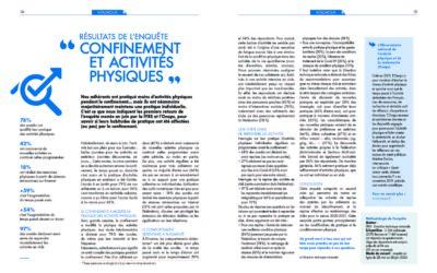 Fédération Française de la Retraite Sportive et Onaps – Impact du confinement sur la pratique physique des adhérents à la FFRS