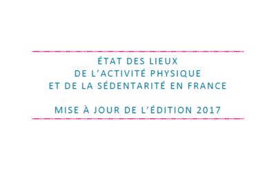 Actualisation de l'Etat des lieux de l'activité physique et de la sédentarité en France – édition 2017