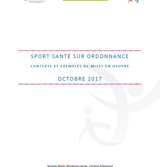 Rapport « Sport santé sur ordonnance – Contexte et exemples de mise en œuvre »