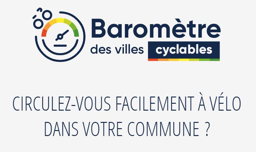 3e Baromètre des villes cyclables